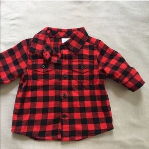 Buffalo Checkered Flannel 0-4 Month Baby Boy Red